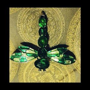 Green Dragonfly Brooch